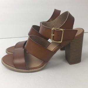 Old Navy Brown 3 Strapped Heel Sandals
